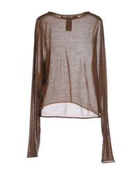 Pullover Isabel Benenato en coloris Brown