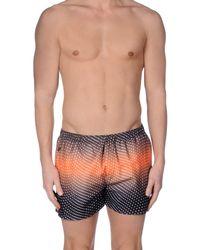 Replay Orange Swim Trunks for men