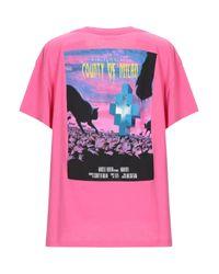 Marcelo Burlon Pink T-shirts