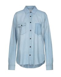 Camisa vaquera Saint Laurent de color Blue