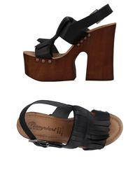 Piampiani Black Sandals
