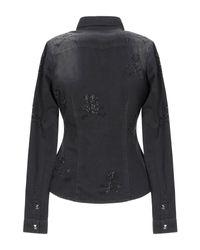 Camicia jeans di Philipp Plein in Black