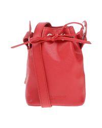Jil Sander Navy Red Cross-body Bag