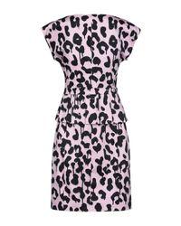 Robe courte Boutique Moschino en coloris Pink
