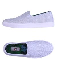 Yab White Low-tops & Sneakers for men