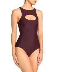 Mikoh Swimwear Purple Badeanzug