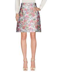 Dolce & Gabbana Blue Knee Length Skirt