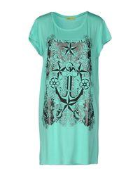 Versace Jeans   Green Short Dress   Lyst