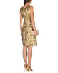 Prada Metallic Knee-length Dresses