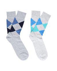 Burlington Gray Socks for men