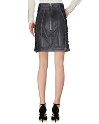 Balmain Black Knee Length Skirt