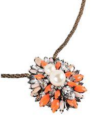 Shourouk Orange Necklace