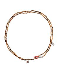 Isaia Brown Necklaces for men