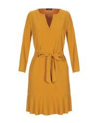 Soallure Yellow Kurzes Kleid