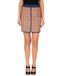 Maliparmi Blue Mini Skirt