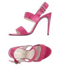 Mauro Grifoni Purple Sandals