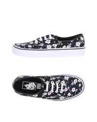 Vans Authentic Women Round Toe Canvas Black Sneakers