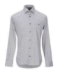 Camicia di Brooksfield in Gray da Uomo