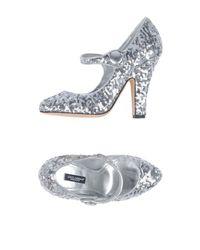 Decolletes di Dolce & Gabbana in Metallic