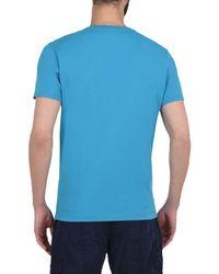 Napapijri - Blue Short Sleeve T-shirt for Men - Lyst