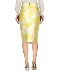 Les Copains Yellow Knee Length Skirt