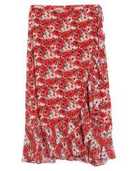 Falda larga Rixo de color Red