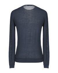 Grey Daniele Alessandrini Blue Sweater for men