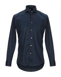 Camisa Grey Daniele Alessandrini de hombre de color Blue