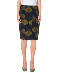 Jo No Fui - Blue Knee Length Skirt - Lyst