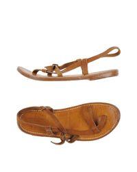 K. Jacques Brown Toe Strap Sandal