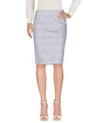 Peserico Blue Knee Length Skirts