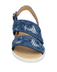 MM6 by Maison Martin Margiela Blue Sandals