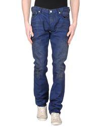 Just Cavalli Blue Denim Pants for men