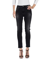2W2M Black Denim Pants