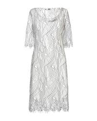 Sonia Fortuna White Kurzes Kleid