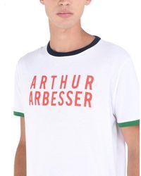 Arthur Arbesser - White T-shirt for Men - Lyst