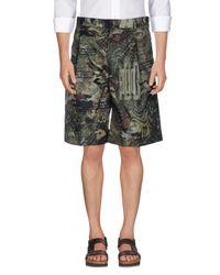 Givenchy Green Bermuda Shorts for men