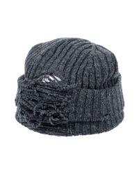 Maison Margiela Gray Hat for men