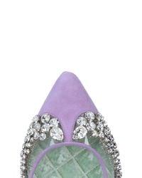 Giannico Purple Ballet Flats