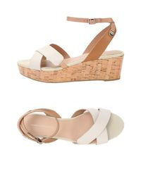 Tommy Hilfiger Natural Sandals