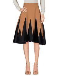 Fausto Puglisi Black Knee Length Skirt
