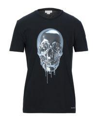 Camiseta Alexander McQueen de hombre de color Black