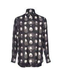Camisa Alexander McQueen de hombre de color Black