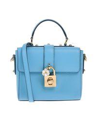 Borsa a mano di Dolce & Gabbana in Blue