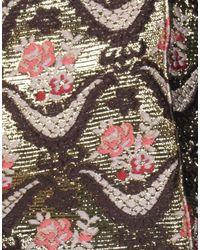 Pantalone di Rochas in Metallic