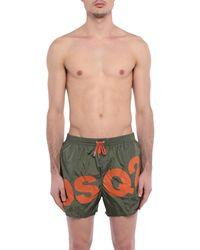 Bañadore tipo bóxer DSquared² de hombre de color Green