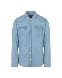 Chemise en jean Tommy Hilfiger pour homme en coloris Blue