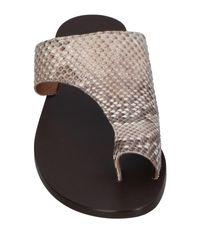 Atp Atelier Gray Toe Strap Sandal