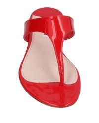 Miu Miu Red Toe Strap Sandal