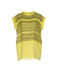Fausto Puglisi Yellow Blouse